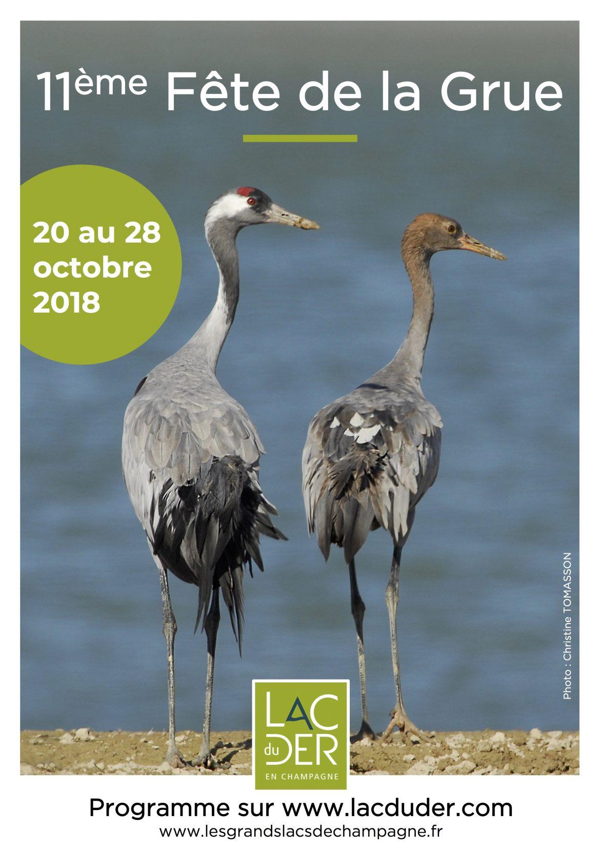 Fête de la Grue au lac du Der, du 20 au 28 octobre
